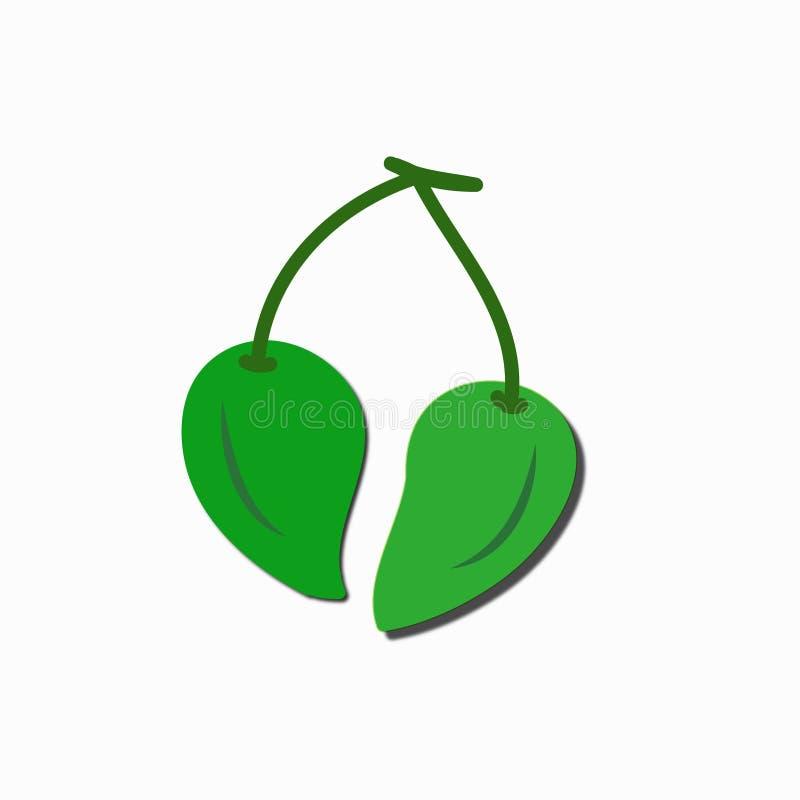 Illustrazione della frutta su fondo bianco fotografia stock libera da diritti