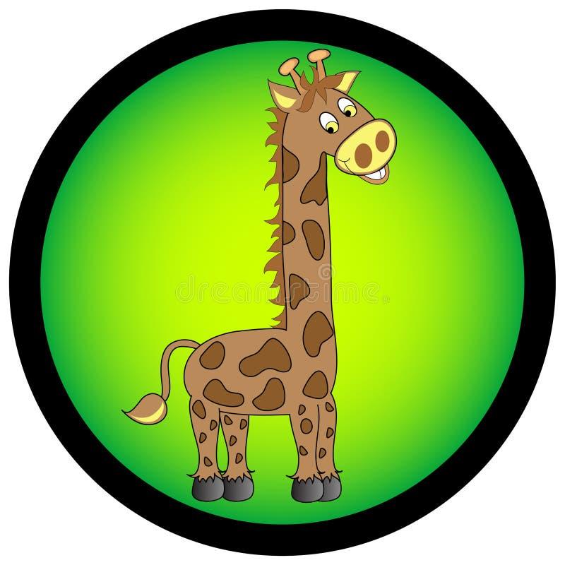 Illustrazione della giraffa. illustrazione di stock