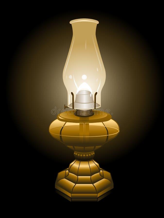 Illustrazione della lampada di uragano illustrazione di stock