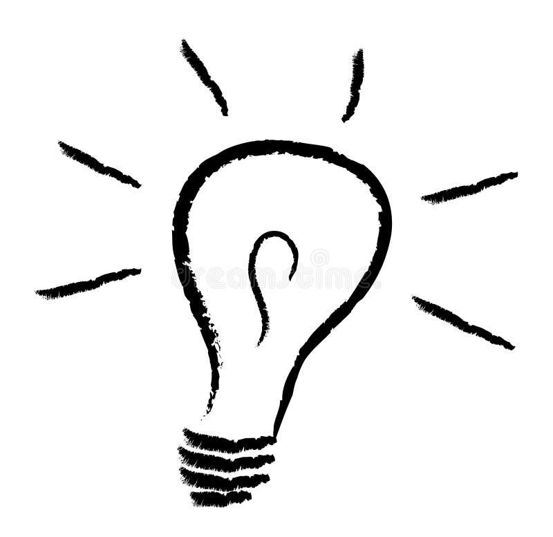 Illustrazione della lampadina royalty illustrazione gratis