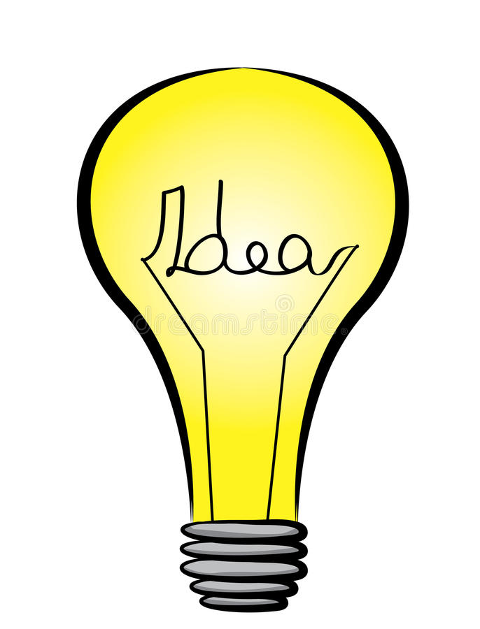 Illustrazione della lampadina immagine stock
