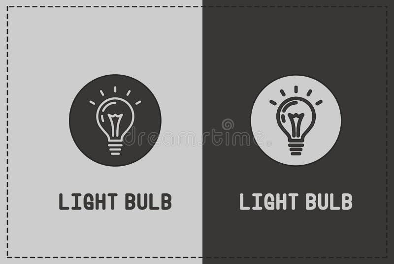 Illustrazione della lampadina fotografie stock libere da diritti