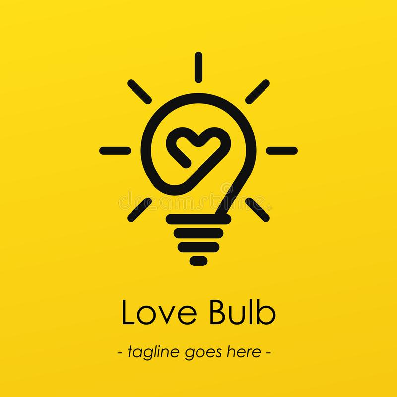 Illustrazione della lampadina di amore royalty illustrazione gratis