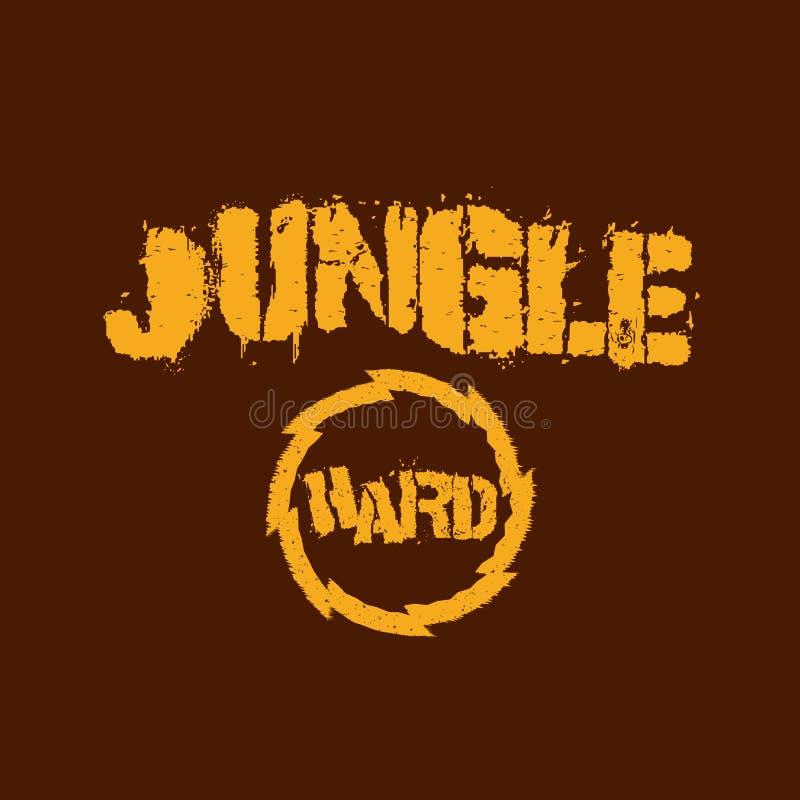 Illustrazione della maglietta di musica della giungla royalty illustrazione gratis