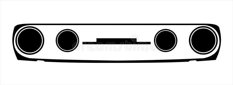 Illustrazione della maschera di Skoda immagini stock
