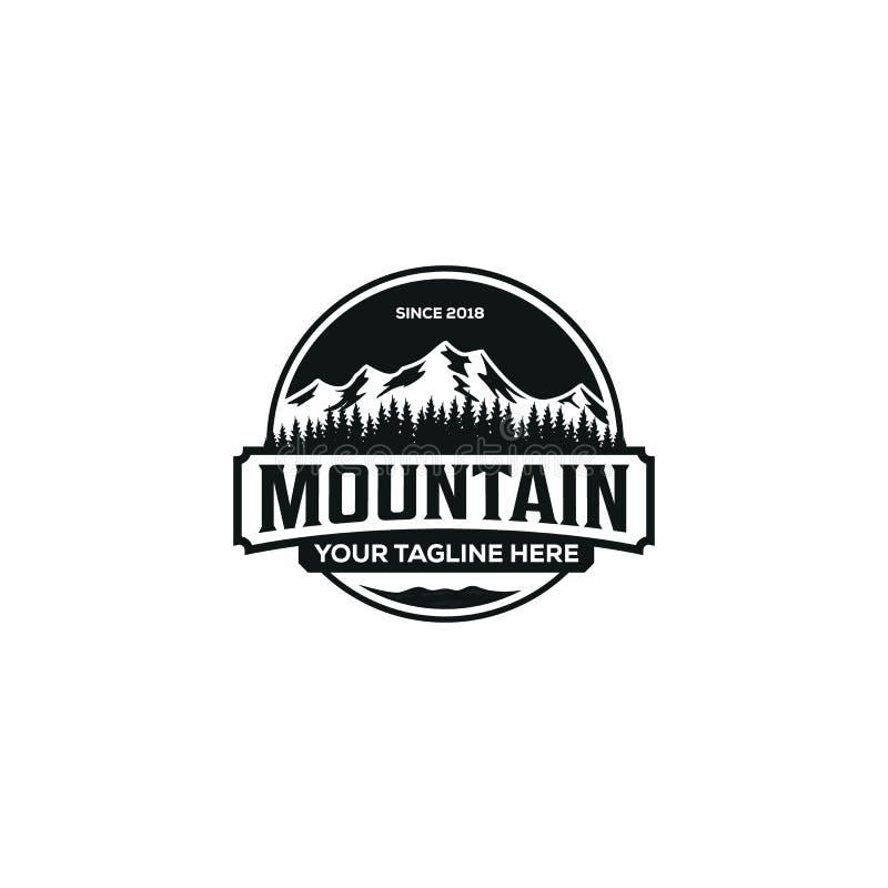 Illustrazione della montagna, avventura all'aperto Grafico di vettore per la maglietta ed altri usi illustrazione vettoriale