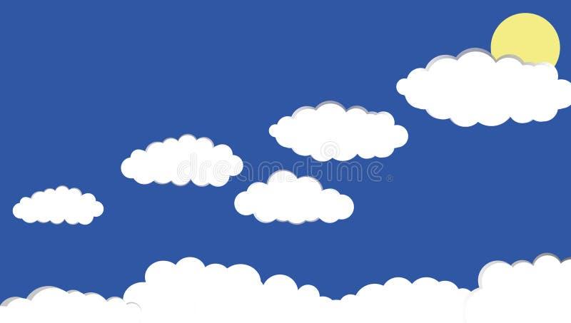 Illustrazione della nuvola in cielo blu immagini stock libere da diritti