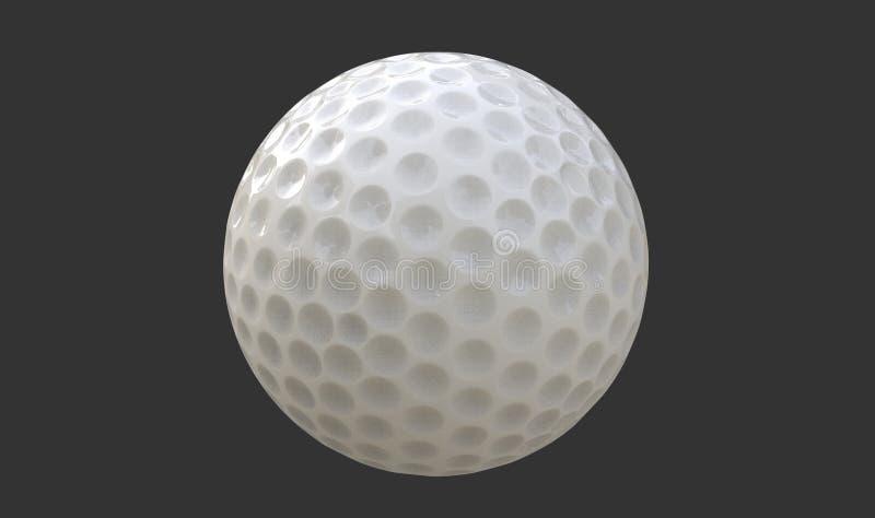 Illustrazione della palla da golf 3d illustrazione vettoriale