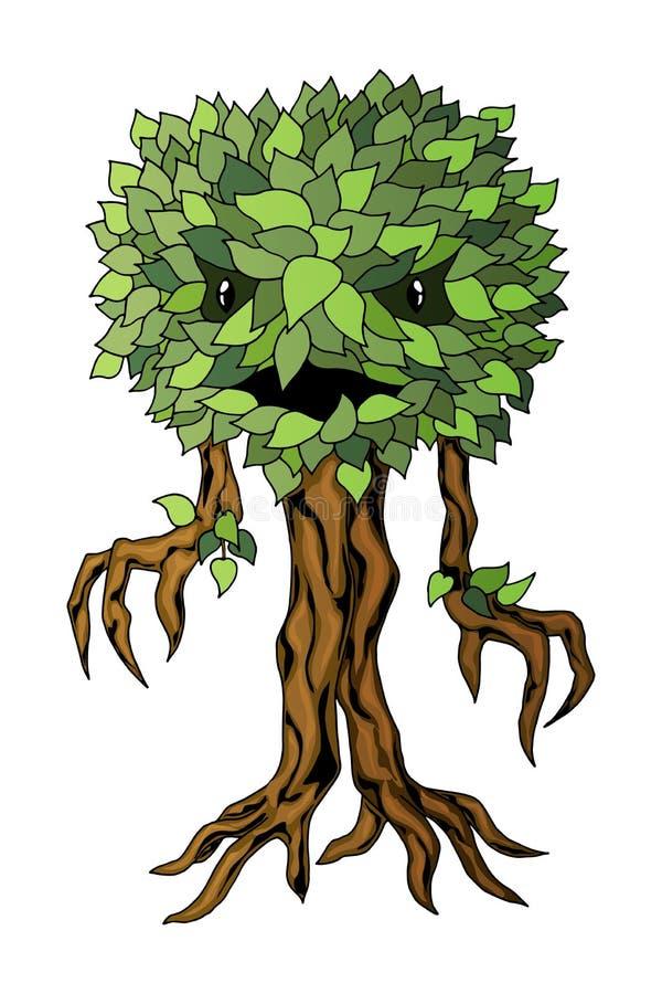 Illustrazione della pianta del mostro Etichetta di vettore isolata su fondo bianco royalty illustrazione gratis