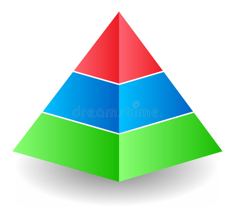 Illustrazione della piramide illustrazione di stock
