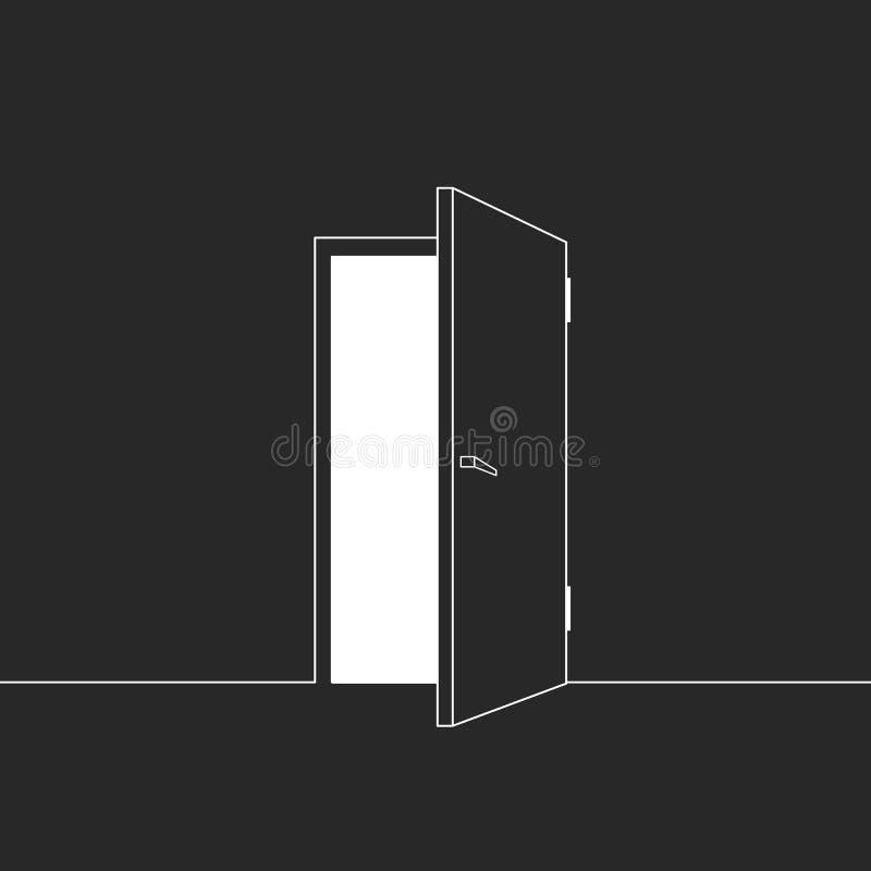 Illustrazione della porta aperta illustrazione vettoriale