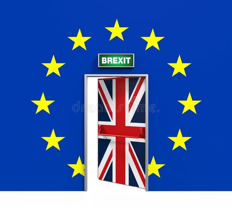 Illustrazione della porta di Brexit illustrazione di stock