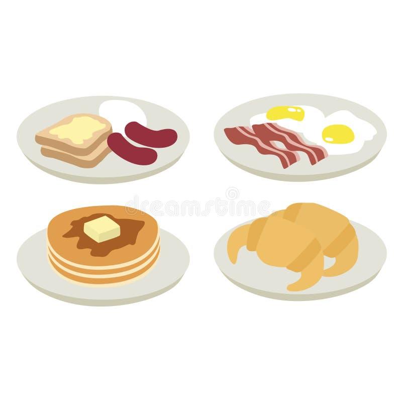 Illustrazione della prima colazione di mattina royalty illustrazione gratis