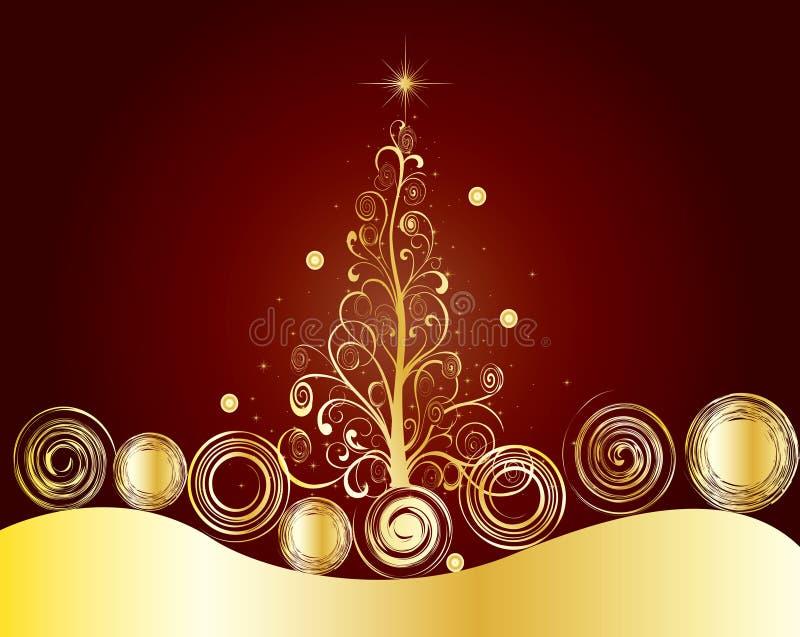 Illustrazione della priorità bassa del regalo del blocco per grafici della cartolina di Natale fotografia stock