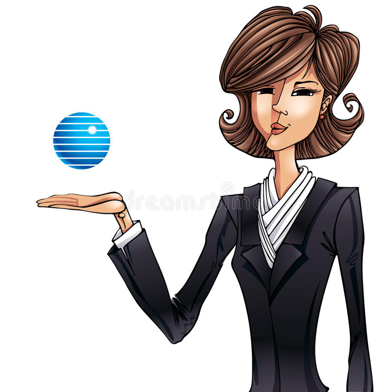 Illustrazione della ragazza di affari. illustrazione vettoriale