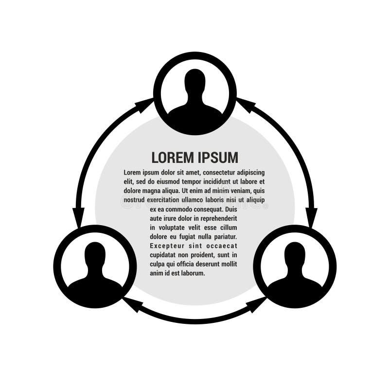 Illustrazione della rete della gente illustrazione di stock