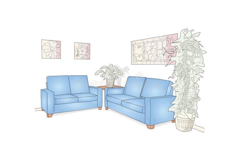 Illustrazione della sala di attesa vettoriale immagine stock