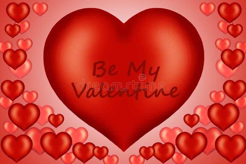 Illustrazione della scheda del biglietto di S. Valentino illustrazione vettoriale