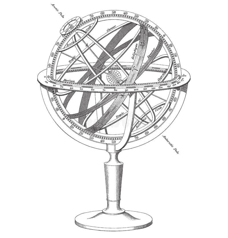 Illustrazione della sfera armillare di vettore illustrazione di stock