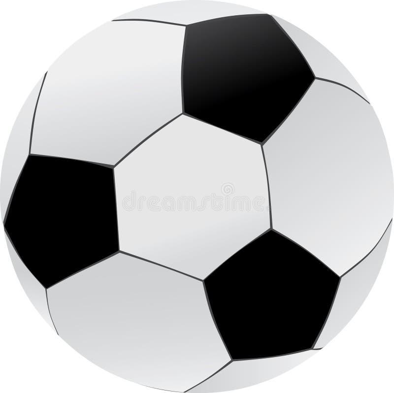 Illustrazione della sfera di calcio illustrazione di stock