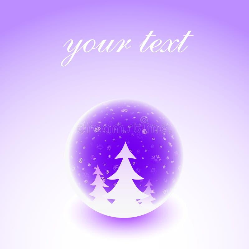 Download Illustrazione Della Sfera Di Inverno Illustrazione Vettoriale - Illustrazione di colore, paesaggio: 7317415