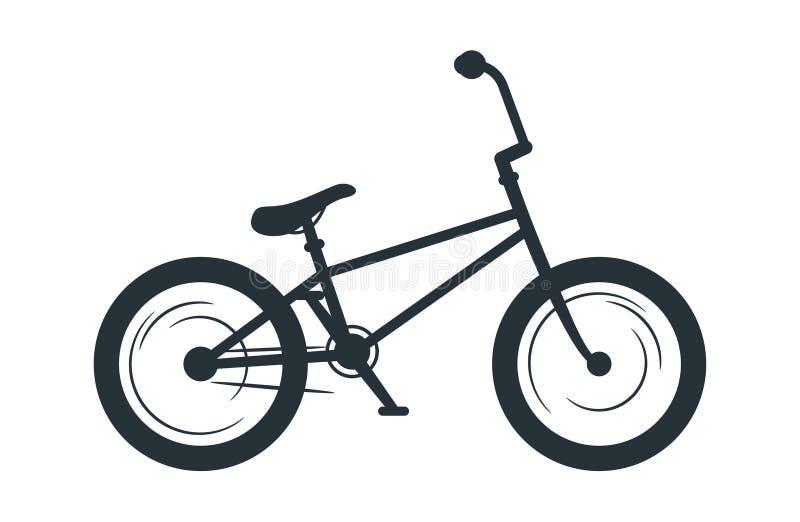 Illustrazione della siluetta di vettore della bicicletta di BMX illustrazione vettoriale