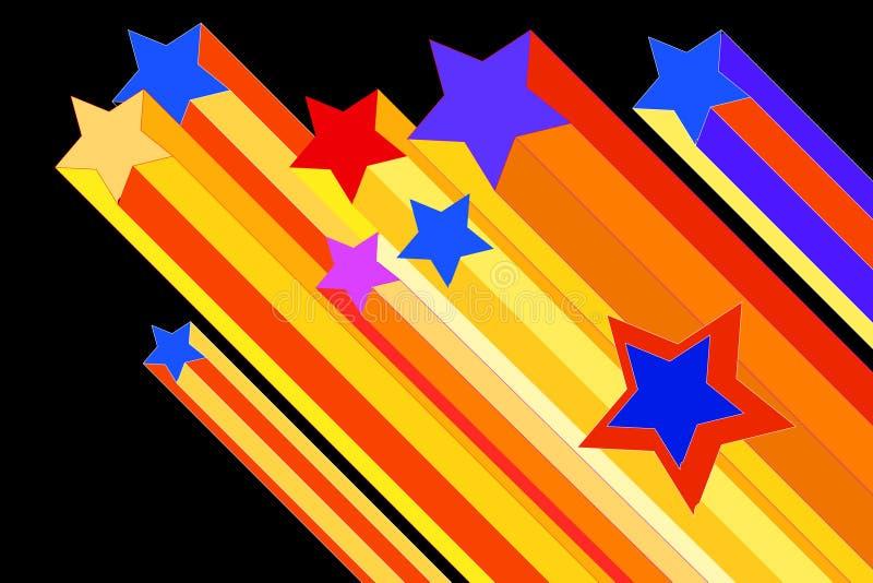 Illustrazione della stella di fucilazione illustrazione vettoriale