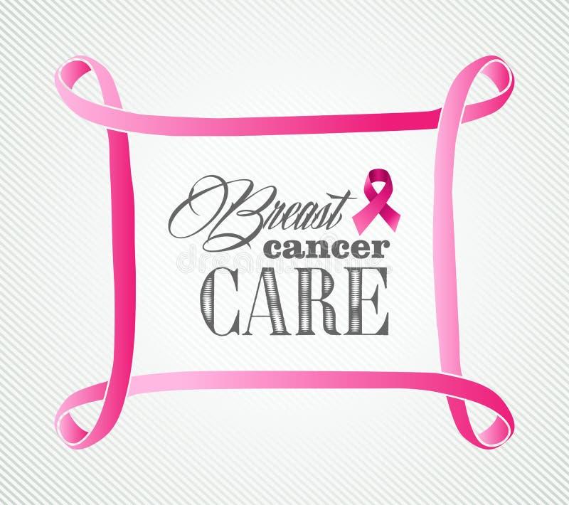 Illustrazione della struttura di concetto di consapevolezza del cancro al seno illustrazione di stock