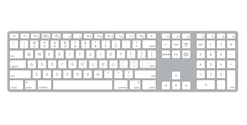Illustrazione della tastiera di calcolatore fotografie stock
