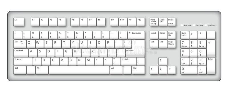 Illustrazione della tastiera di calcolatore illustrazione vettoriale
