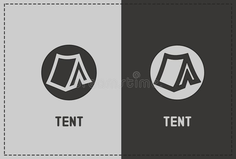 Illustrazione della tenda fotografie stock libere da diritti
