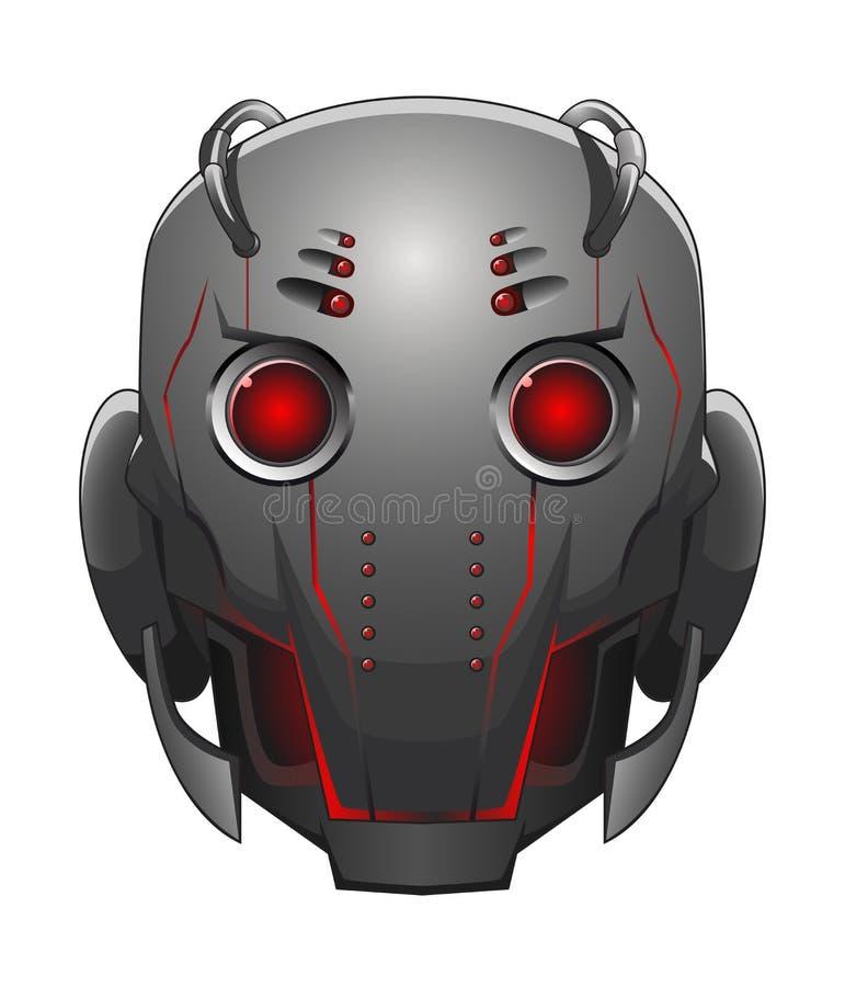 Illustrazione della testa del robot illustrazione vettoriale