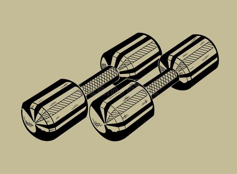 Illustrazione della testa di legno Mette in mostra i equipmen fotografia stock libera da diritti