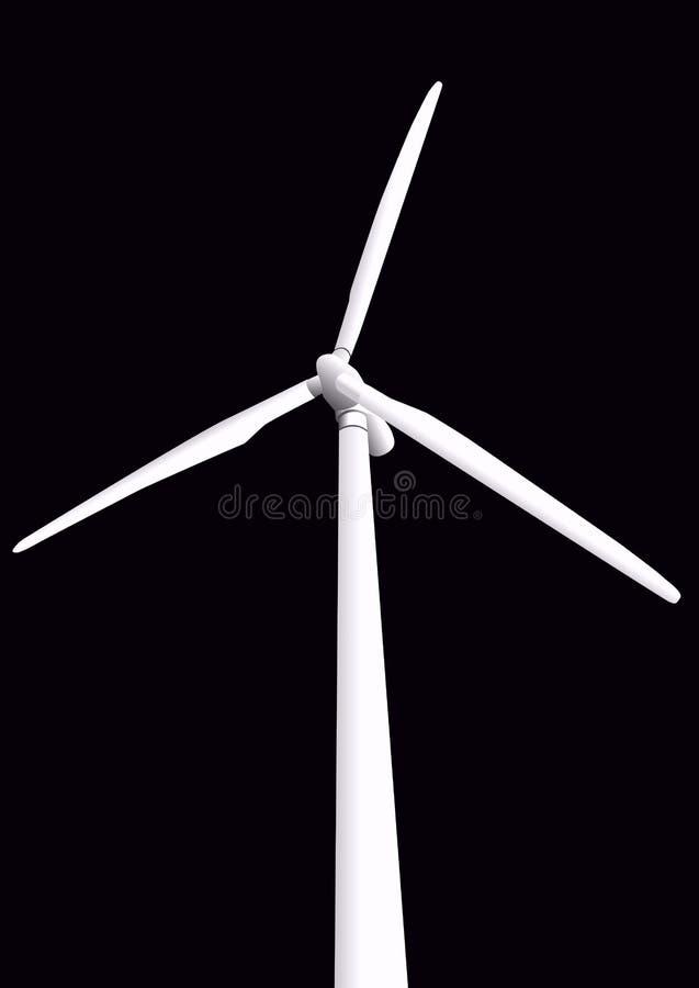 Illustrazione della turbina di vento royalty illustrazione gratis