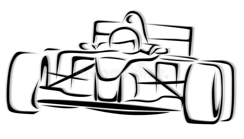 Illustrazione della vettura da corsa F1 illustrazione vettoriale