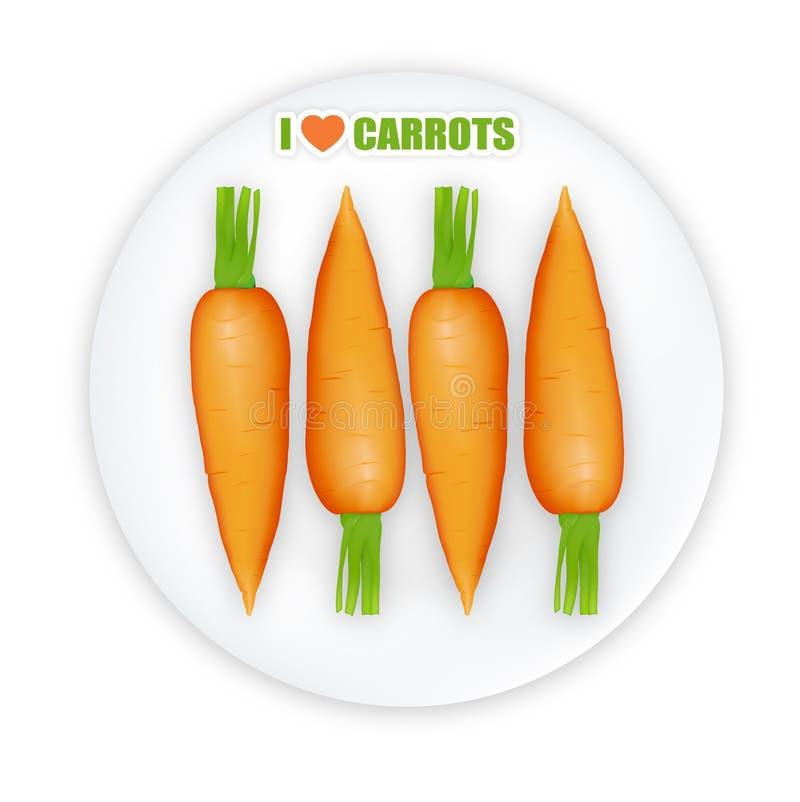 Illustrazione delle carote illustrazione vettoriale