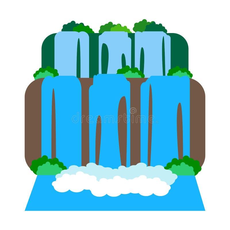 Illustrazione delle cascate di Iguazu royalty illustrazione gratis