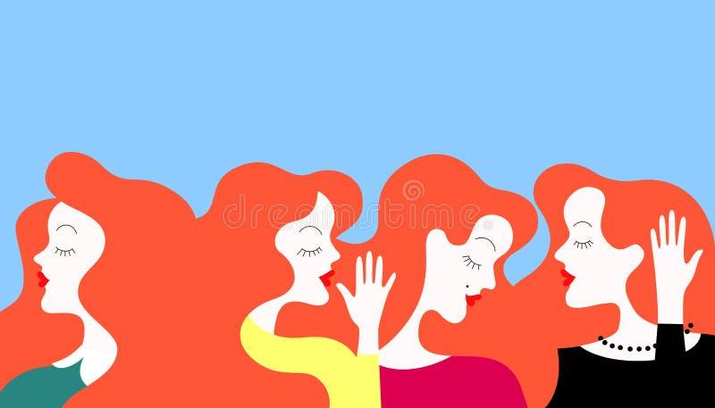 Illustrazione delle donne del gossip illustrazione di stock
