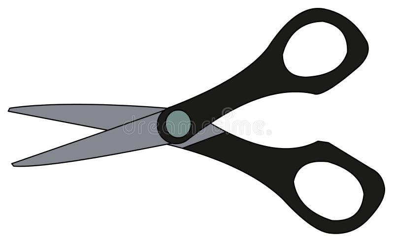 Illustrazione delle forbici fotografia stock