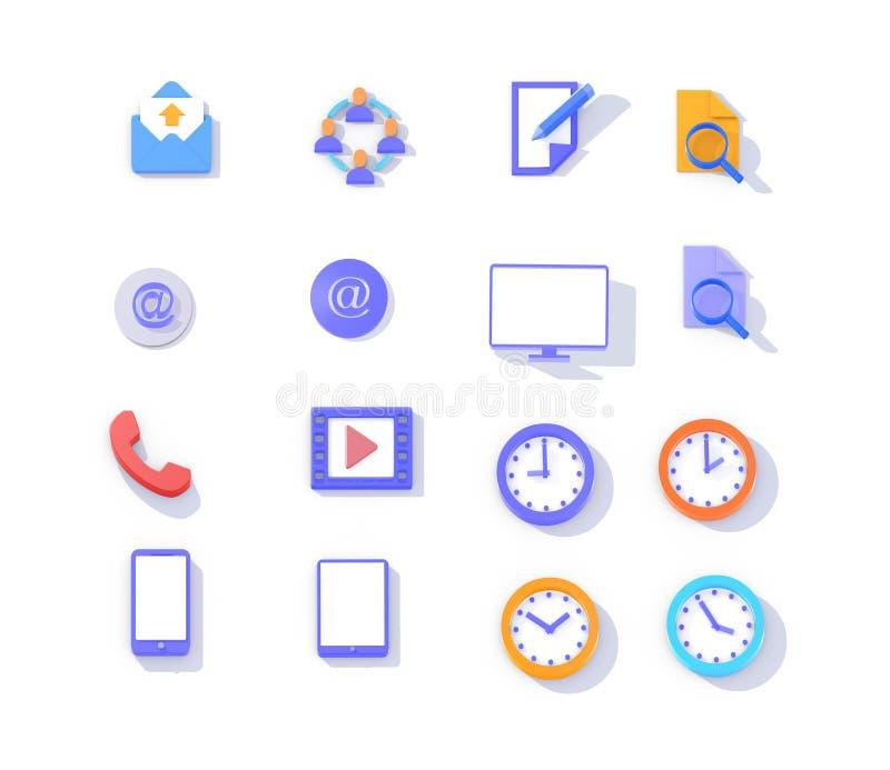 Illustrazione delle icone isometriche 3d royalty illustrazione gratis