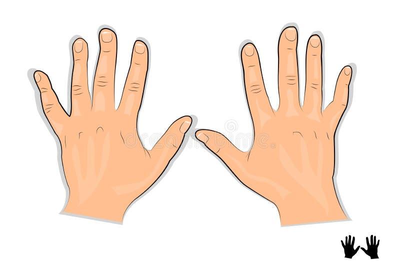 Illustrazione delle mani degli uomini s illustrazione di stock