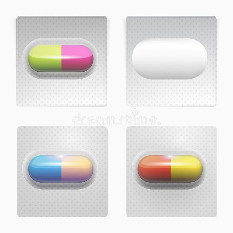 Illustrazione delle pillole colorate royalty illustrazione gratis