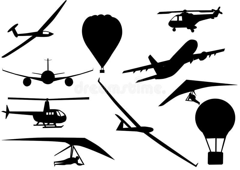 Illustrazione delle siluette del veicolo illustrazione vettoriale