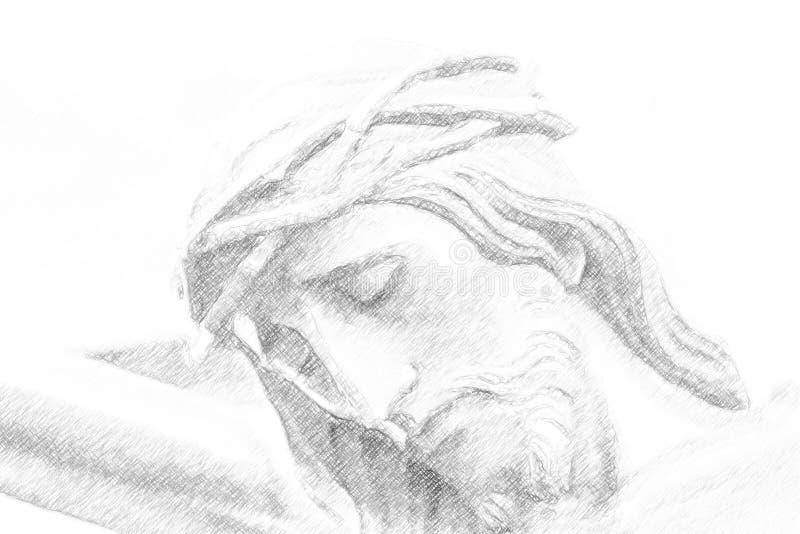 Illustrazione delle spine nella crocifissione di Jesus Christ fotografie stock libere da diritti