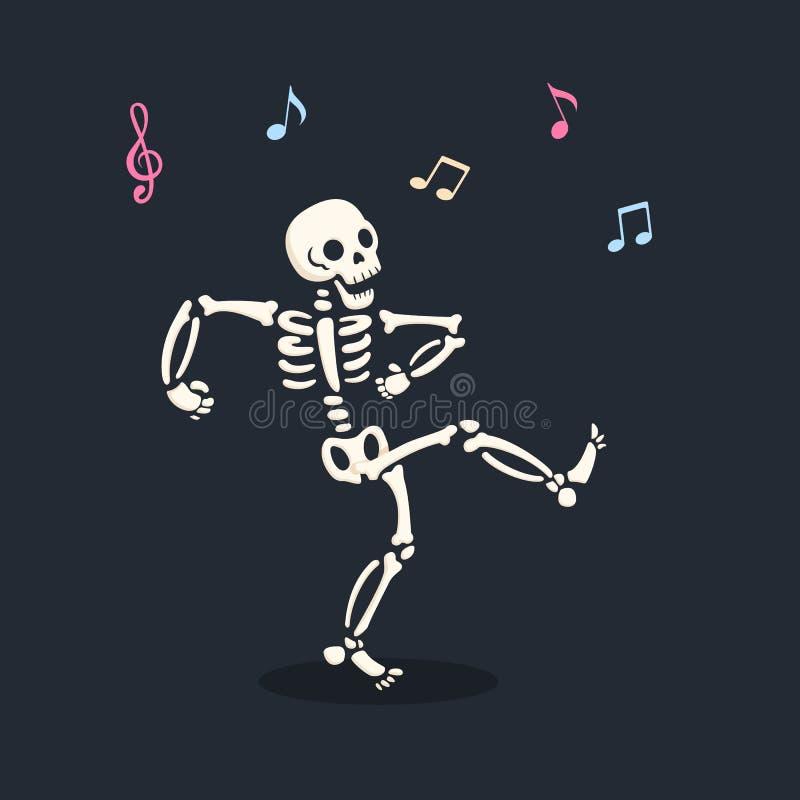 Illustrazione dello scheletro di dancing illustrazione vettoriale