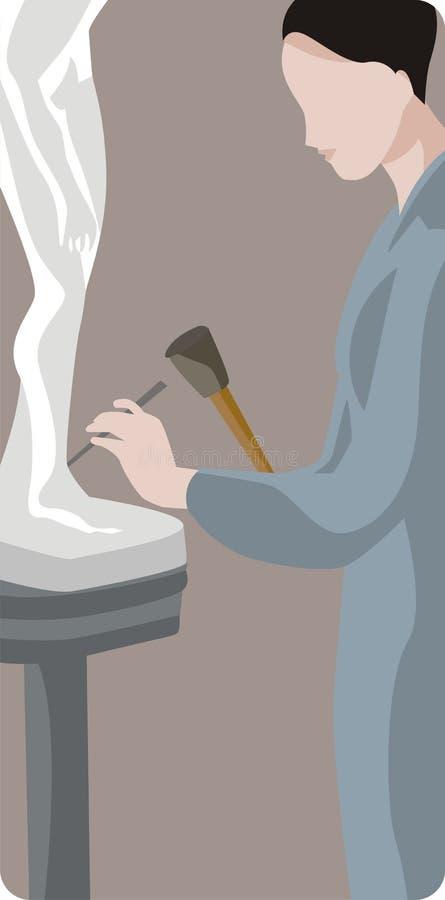 Illustrazione dello scultore royalty illustrazione gratis