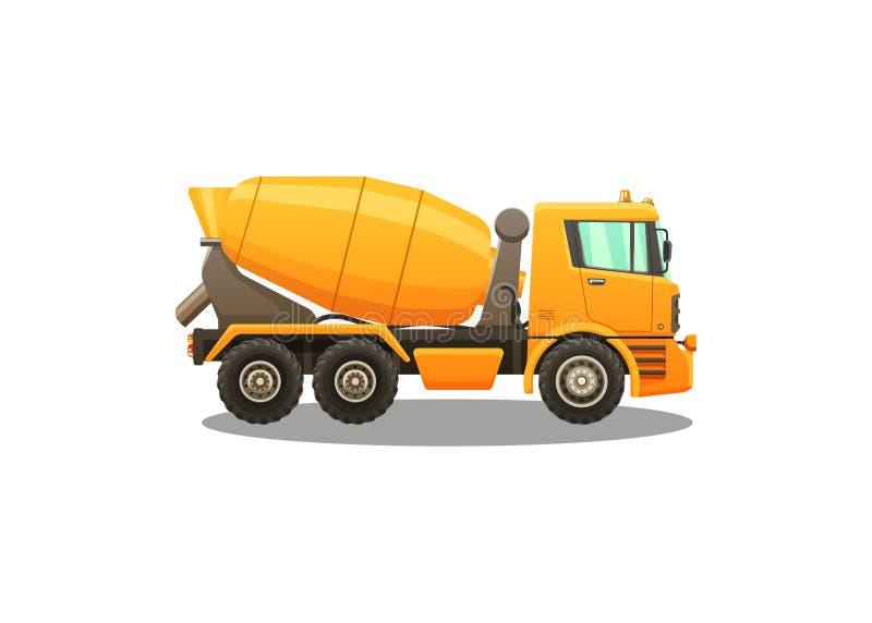 Illustrazione dettagliata di vettore della betoniera illustrazione vettoriale