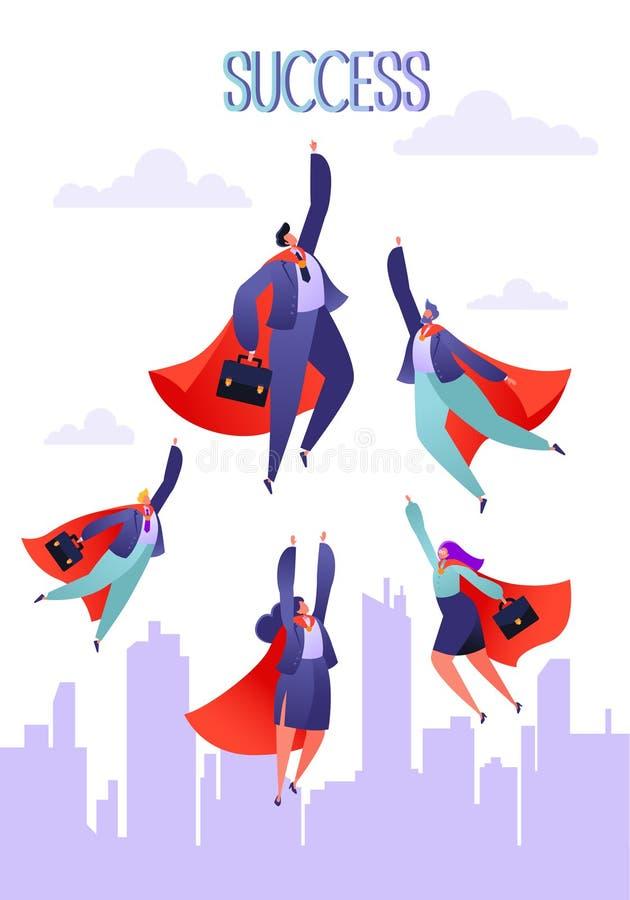 Illustrazione di affari di vettore Concetto di lavoro di squadra Lavoro di squadra di affari illustrazione di stock