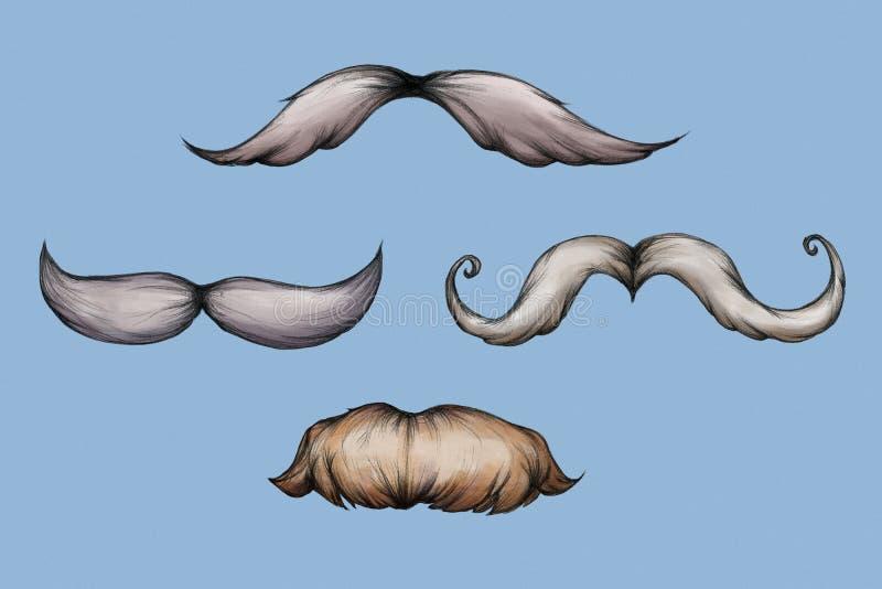 Illustrazione di alcune barbe royalty illustrazione gratis