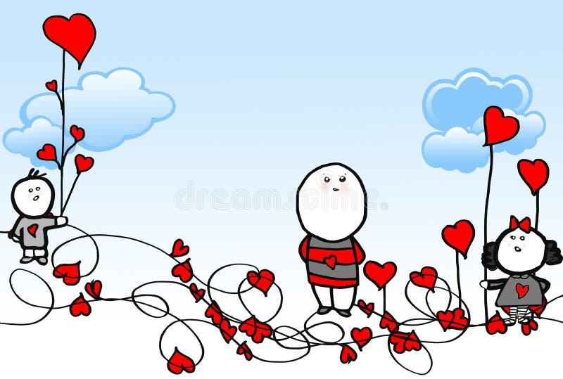Illustrazione di amore del bambino illustrazione vettoriale